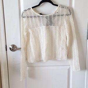 Zara white knit top